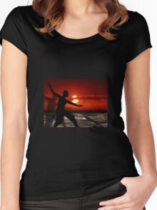 Martial arts  Women's Fitted Scoop T-Shirt