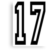 TEAM SPORTS, NUMBER 17, SEVENTEEN, 17, SEVENTEENTH, ONE, SEVEN,Competition,  Canvas Print