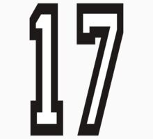 TEAM SPORTS, NUMBER 17, SEVENTEEN, 17, SEVENTEENTH, ONE, SEVEN,Competition,  Kids Clothes
