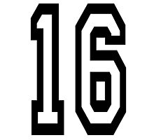 16, TEAM SPORTS, NUMBER 16, SIXTEEN, SIXTEENTH, Sweet sixteen, Competition,  Photographic Print