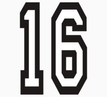 16, TEAM SPORTS, NUMBER 16, SIXTEEN, SIXTEENTH, Sweet sixteen, Competition,  Kids Clothes