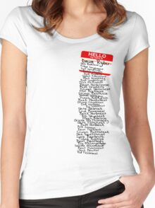 Have You Signed Sherri's Birthday Card? Women's Fitted Scoop T-Shirt