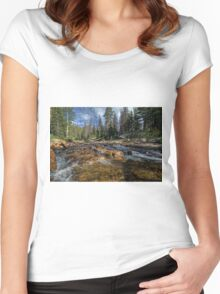 Utah Nature Photography - Provo River Women's Fitted Scoop T-Shirt
