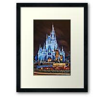 Cinderella Castle Dream Lights Framed Print