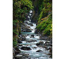 Mountain Stream, South Island New Zealand Photographic Print