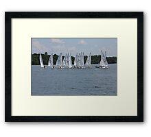 Sailboats on the Lake 2 Framed Print