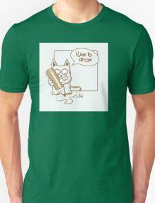i like to draw. T-Shirt
