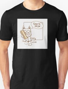 i like to draw. T-Shirt