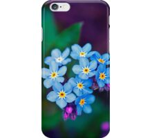 Forget Me Not Flowers iPhone Case/Skin