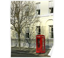 Phone Booth, Portsmouth, England Poster