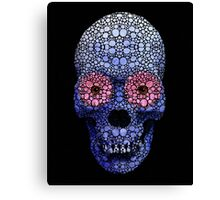 Skull Art - Day Of The Dead 1 Stone Rock'd Art By Sharon Cummings Canvas Print