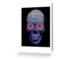 Skull Art - Day Of The Dead 1 Stone Rock'd Art By Sharon Cummings Greeting Card
