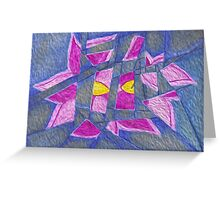 Shattered Orchid Greeting Card