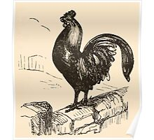 Five Mice in a Mouse Trap Laura Elisabeth Howe Richards and Kate Greenaway 1881 0074 The Rooster Crowing Poster