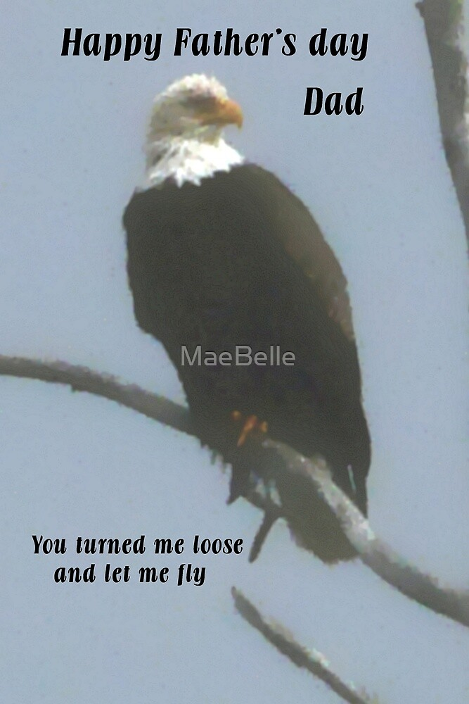 Eagle, Father's Day Card by MaeBelle