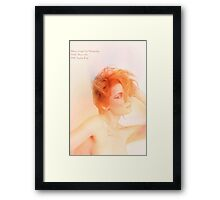 flame thrower Framed Print