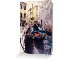 Two Gondolas - Venice canal. Greeting Card