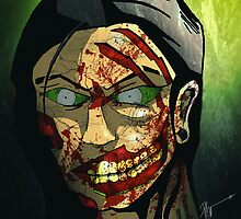 Zombie Head  by Patrick Mazzone