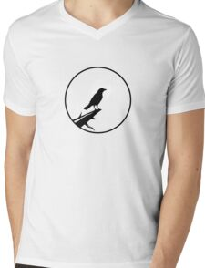 The Crow (transparent) Mens V-Neck T-Shirt