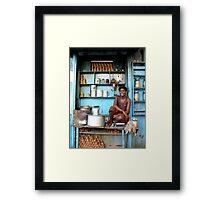 Indian tea boy in Kolkata, West Bengal Framed Print