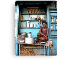 Indian tea boy in Kolkata, West Bengal Canvas Print