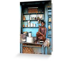 Indian tea boy in Kolkata, West Bengal Greeting Card