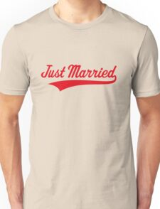 Just Married (Marriage / Wedding / Red) Unisex T-Shirt