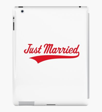 Just Married (Marriage / Wedding / Red) iPad Case/Skin