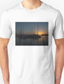 Sicilian Sunset at the Syracuse Harbour  Unisex T-Shirt