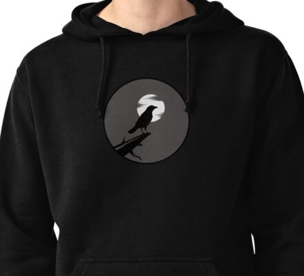 The Crow (grey sky) Pullover Hoodie