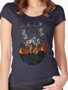 Big robots Women's Fitted Scoop T-Shirt