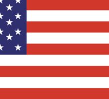 American Flag, America, Stars & Stripes, USA, Americana, Pure & Simple, on BLACK Sticker