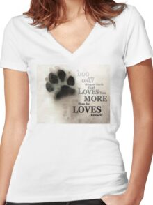 True Love - By Sharon Cummings Words by Billings Women's Fitted V-Neck T-Shirt