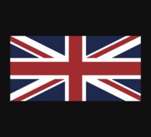 Union Jack, British Flag, UK, United Kingdom, Blighty, Pure & simple 1:2 on BLACK T-Shirt
