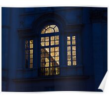 A Glimpse Through a Window - Piazza Navona, Rome, Italy Poster
