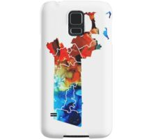 Massachusetts - Map Counties By Sharon Cummings Samsung Galaxy Case/Skin