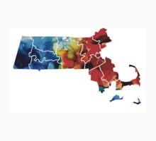 Massachusetts - Map Counties By Sharon Cummings Kids Tee