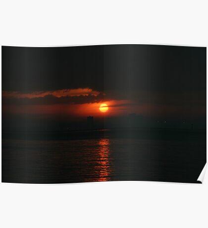 Sunrise over Butterworth Malasia Poster