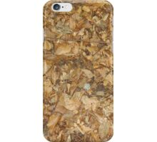 A rug of leafs iPhone Case/Skin