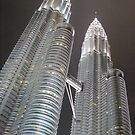 Petronas towers - Kuala Lumpur, Malaysia.  by Nupur Nag