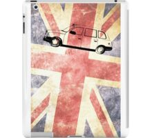 London taxi with grunge UK flag iPad Case/Skin