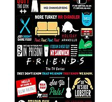 Friends Sitcom TV Series Quotes Art  by baray7