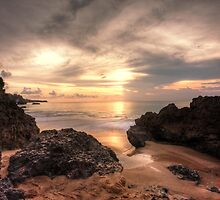 Golden Sunset at Tegal Wangi Beach by Franky Lie