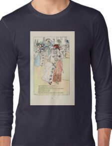 Mother Goose or the Old Nursery Rhymes by Kate Greenaway 1881 0051 All Around the Green Gravel Long Sleeve T-Shirt