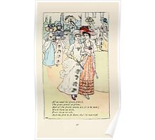 Mother Goose or the Old Nursery Rhymes by Kate Greenaway 1881 0051 All Around the Green Gravel Poster