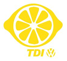 VW TDI Lemon Slice Yellow Photographic Print