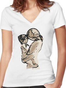 Mother and Child Women's Fitted V-Neck T-Shirt