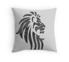 Lion Tribal Tattoo Style Distressed Design  Throw Pillow