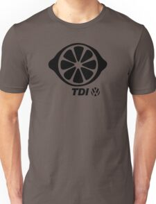 VW TDI Lemon Slice Black Unisex T-Shirt