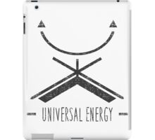Universal Energy - Typography and Geometry iPad Case/Skin